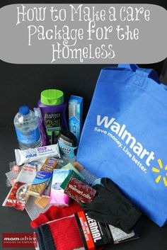"How to Create a Homeless Care Package for Someone in Need ~ One pinner said, ""what they always want the most (believe it or not) are clean white socks."" Another said she keeps her 'care/blessing pkgs' in her trunk all year round. What a great parenting activity this is... :)))"