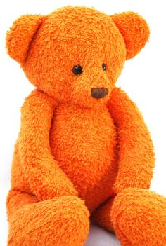 Handmade OOAK Orange baby size artist teddy bear by FifiStitch, £50.00