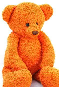 Handmade OOAK Orange baby size artist teddy bear by FifiStitch