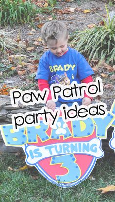 Paw Patrol party ideas - party games, party decorations and party food for a fun preschool birthday party #pawpatrol #kidsparty #kidspartyideas #preschool