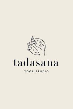 package pre-made branding package: Tadasana brand . - Pre-made branding package: Tadasana brand board, brand desig - Logo Branding, Typography Logo, Lettering, Branding Template, Branding Ideas, Logo Inspiration, Yoga Logo, Hand Logo, Studio Logo