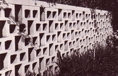 If I ever have the great fortune of owning a house, it will absolutely NOT be complete without a sexy breeze block wall.