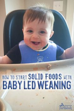 Is your 4-6 month old baby ready to start solid foods? Did you know you don't have to start with baby food? You can feed them right at the table and right off your plate with Baby Led Weaning. Learn what it is, what it means, and how to get started safely #blw #babyledweaning #babyfood