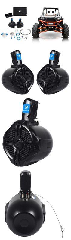 Marine Audio: 2) Rockville 6.5 Tower Speakers+Bluetooth Amplifier+Remote Atv/Utv/Rzr/Polaris -> BUY IT NOW ONLY: $174.99 on eBay!