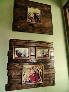 Distressed wood photo frames