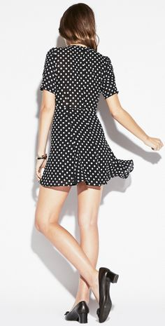 Minx dress. http://thereformation.com/MINX-DRESS-DOTS1.html