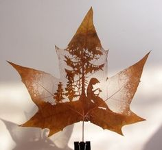 carved leaf...this detailed and tiny work always astounds me. So beautiful!!!