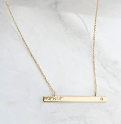 Personalized Necklace / Vrai & Oro