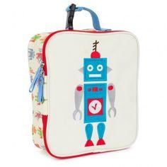 Cream Robbie The Robot Lunchbox