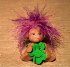 Good Luck elf sculpey clay model