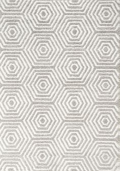 Boulevard by Kalora. Contemporary Area Rugs, Modern Contemporary, Hexagon Pattern, Geometric Rug, White Area Rug, Rug Making, Throw Rugs, All Modern, Grey And White
