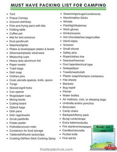 Make sure to pack this camping gear before taking off.-Make sure to pack this camping gear before taking off. Free printable checklist… Make sure to pack this camping gear before taking off. Free printable checklist to keep you sane. Camping Hacks, Camping Bedarf, Camping Packing, Camping Supplies, Camping With Kids, Family Camping, Outdoor Camping, Camping Stuff, Camping Guide