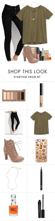 """""""Day 3 - Halloween party"""" by artsydoglovergabs ❤ liked on Polyvore featuring Urban Decay, Bare Escentuals, Lee, Wild Diva, Casetify, Kendra Scott, NARS Cosmetics, Topshop, Smashbox and kennshalloweencontest"""