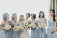 Dust Blue Bridesmaid Gowns   http://brideandbreakfast.ph/2015/05/28/dust-blue-delight/   Photo: Myio Okamoto Photography
