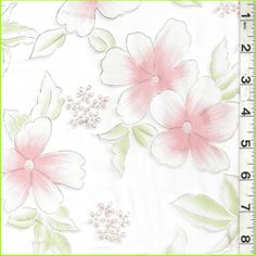 Organza-White/Pink/Sage Floral