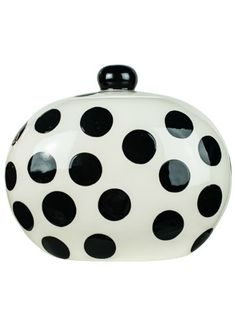 HAPPY EVERYTHING BIG BLACK DOT COOKIE JAR