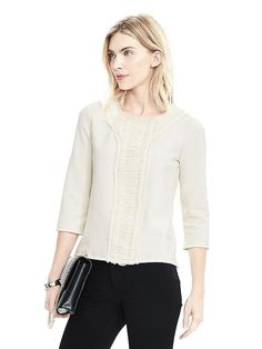 This is more like a lined top (a semi sweatshirt) - it is really cute on! I totally recommend. Can be dressed up. Perfect with jeans !