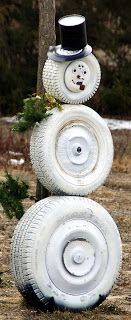 1000 images about my flakey friends on pinterest for Snowmen made from tires