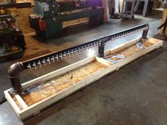 Big 40 tap draft beer tower headed to a marine base. www.tappedbeer.com