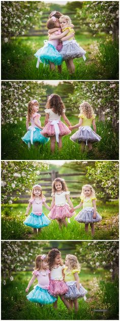 Best friends photoshoot. Apple Orchard mini session.  Tutu photo session.  Children's photography.  Photo session for 3 girls.  3 toddlers. Best friends. BFFS.   Joy of Life Photography | Orangeville, Ontario Photographer. Product shoot for Madeline Ann Accessories .