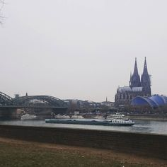 """Nice view from the """"wrong"""" side of the Rhine on my bike  ride. Pity it was so damp."""