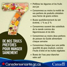 Nos conseils meilleurs favourite d'alimentation saine : http://www.canadiensensante.gc.ca/eating-nutrition/healthy-eating-saine-alimentation/tips-trucs-fra.php?utm_source=Pinterest_HCdnsutm_medium=socialutm_content=Dec16_Nutrition_FR_1utm_campaign=social_media_13