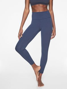 679fc1c2c2458 Stripe Salutation 7/8 Tight | Athleta Outdoor Yoga, Yoga Tops, Cycling  Outfit