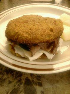 Almond flour buns, organic turkey, organic roast beef, organic spinach, homemade kefir sandwich sauce (ingredients from Wegman's)!