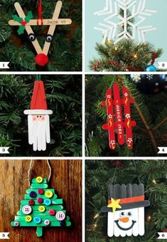 Christmas Tree Decorations For Kids, Popsicle Stick Christmas Crafts, Christmas Presents For Friends, Christmas Crafts For Kids, Diy Christmas Ornaments, Craft Stick Crafts, Diy Christmas Gifts, Kids Crafts, Holiday Crafts