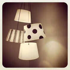 Personaliza las pantallas de papel de tus lámparas simplemente con un rotulador... (vía x4duros.com) ¡Brillante!