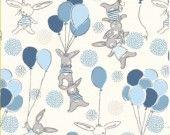 Tissus pour créations tour de lit et gigoteuse lapins bleus : Linge de lit enfants par les-p-tites-merveilles-de-berenice