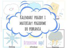 Dzieckiem bądź: Kalendarz pogody do pobrania Parenting Classes, Preschool, Education, Words, Children, September, Speech Language Therapy, Therapy, Young Children