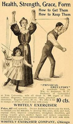 1899 Ad Whitely Exerciser Gymnastics Fitness Equipment Original Advertising | eBay