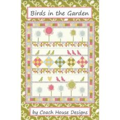 Birds in the Garden - Sewing Pattern by Coach House Designs (CH1216) - SouthernFabric
