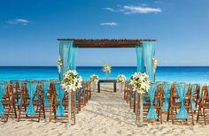 Boda en la playa tonos turquesa