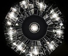 """""""Chapeau"""" #chandelier #black #modern #design #essential #light #Besanza https://www.lampadaribesanza.com/en/chapeau-chandelier.html"""