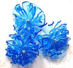 Hairpins , ovvero fermagli per capelli realizzati in pet per un riciclo creativo delle bottiglie di plastica . Guarda come realiz...