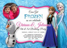 Frozen Birthday Invitation  with or without photo by Asapinvites, $12.00