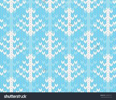 Vector seamless background with trees. Imitation jacquard knitting
