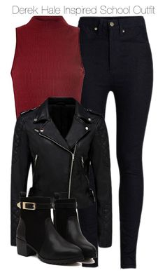 """""""Derek Hale Inspired School Outfit"""" by staystronng ❤ liked on Polyvore featuring Rodarte, Glamorous, Forever New, derekhale, tw and saralance"""