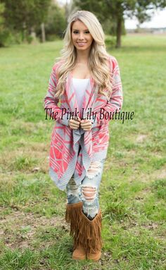 ☆☆DISC. CODE: AMIE10 TO SAVE!!!☆☆ www.pinklilyboutique.com Hello Goregous Pink Cardigan