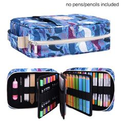 202 Colored Pencils Pencil Case / 136 Color Gel pens Pen Bag/Marker Organizer Universal Artist use Supply School Zippered Large Capacity Slot Super Big Professional Storage qianshan Dolphin -- Check out this great product. (This is an affiliate link) Tombow Brush Pen, Leather Sketchbook, Pen Storage, Stationary School, School Items, School Bags, White Pen, Art Case, Pen Sets