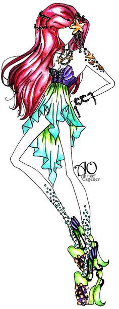 Awesome Ariel fashion sketch