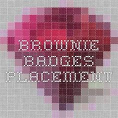 Brownie badges placement