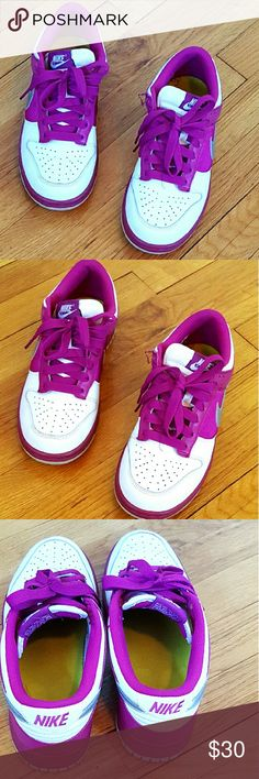 Nike Shoes Purple and White Nike Shoes. Great Conditions (Used) *10% off 2+ Bundle? Nike Shoes Sneakers