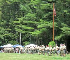 The Line: Scoutmasters at the Sunday Dress Parade at #Yawgoog!  A 2015 image by David R. Brierley.