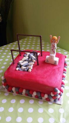 Gymnastics birthday cake.