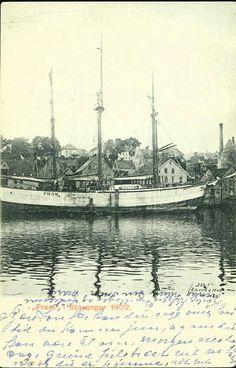 Polarskuten FRAM i Stavanger 1902 Utg NK/Foto Wilse Brukt 1906