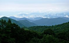 "Photo: Blue Ridge Mountains, North Carolina. Credit: Ken Thomas; Wikimedia Commons. Read more on the GenealogyBank blog: ""North Carolina Archives: 169 Newspapers for Genealogy Research."" http://blog.genealogybank.com/north-carolina-archives-169-newspapers-for-genealogy-research.html"