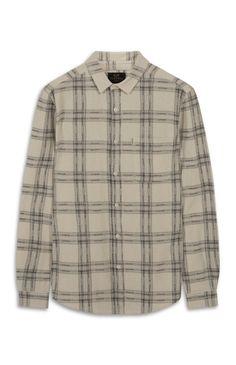 Farrell Cream Wide Check Shirt